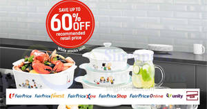 Fairprice: Spend & redeem exclusive Corningware Cookware at up to 60% off! From 15 Mar – 6 Jun 2018