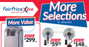 Fairprice Xtra cooling appliances offers – save up to 57%! Valid from 15 – 28 Mar 2018