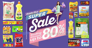 GobblerShop: Up to 80% off groceries super sale from 21 – 22 Apr 2018