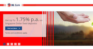 HL Bank: Earn 1.70% to 1.75% p.a. on Singapore Dollar fixed deposits! From 5 Mar – 31 May 2018