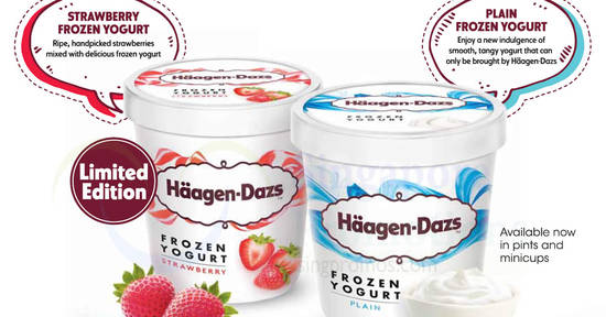 Featured image for Haagen-Dazs: New frozen yogurt in plain/strawberry & Mandarin Orange Sorbet!