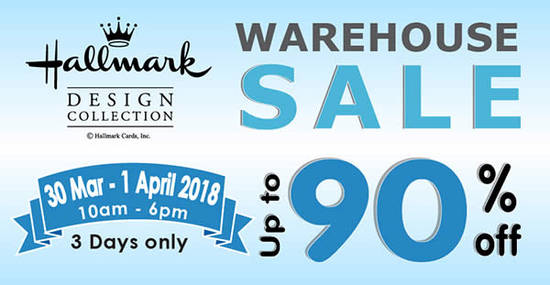 Hallmark Warehouse Sale feat 14 Mar 2018