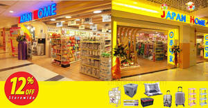 Japan Home: 12% OFF storewide at all outlets from now till 27 Sep 2021