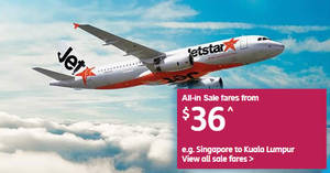Jetstar: All-in sale fares fr $36 to over 20 destinations! Book by 25 May 2018