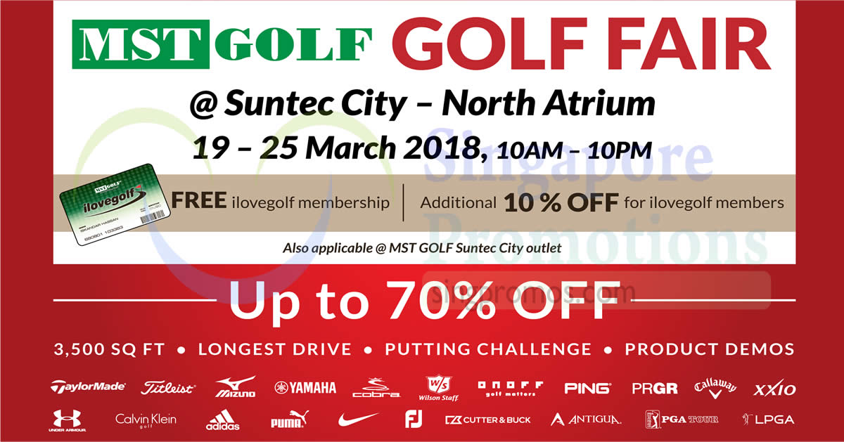 de50eeb89bd718 MST Golf  Up to 70% OFF Golf Fair at Suntec! From 19 – 25 Mar 2018
