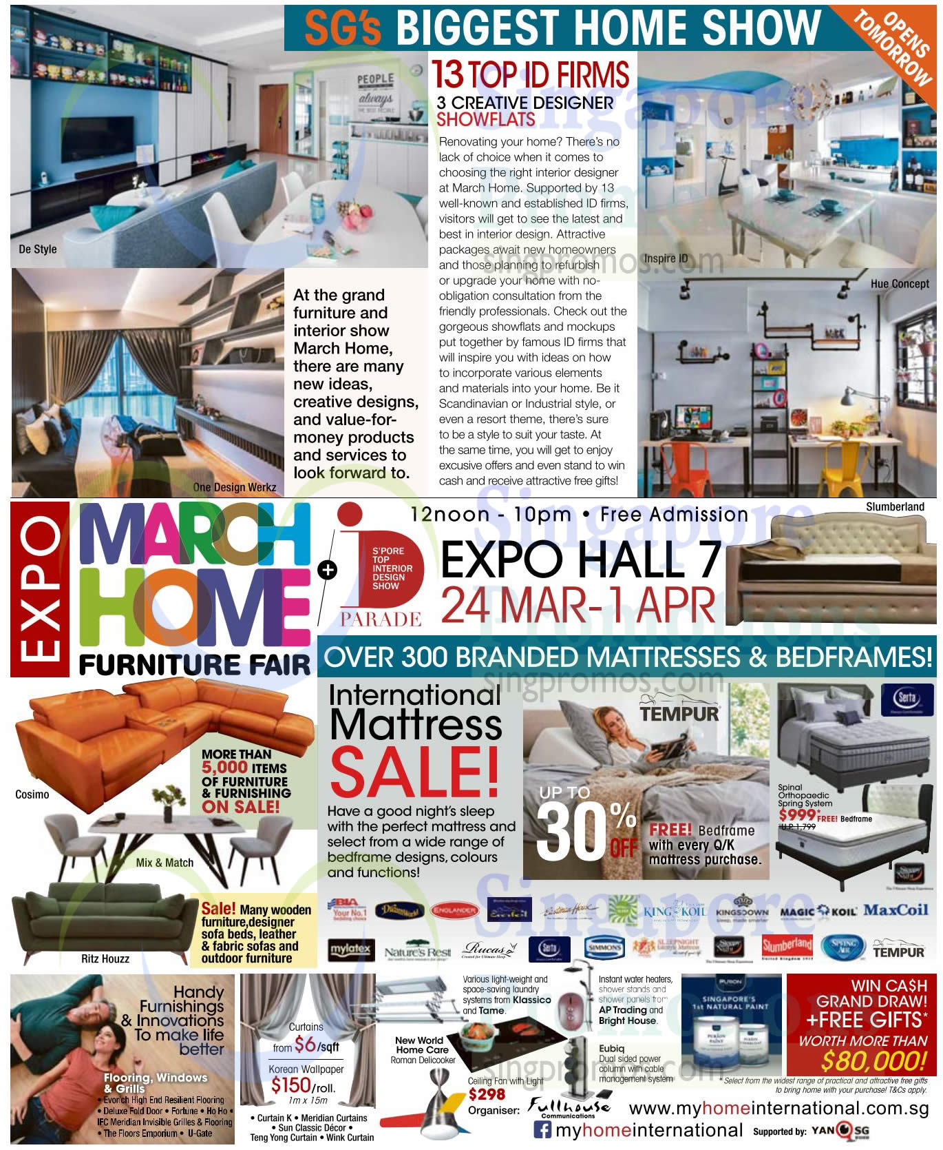 March Home Furniture Fair At Singapore Expo From 24 Mar 1 Apr 2018