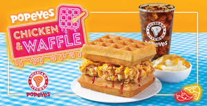 Popeyes: NEW Chicken & Waffle available from 20 Mar 2018
