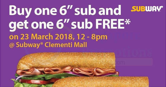 Subway feat 22 Mar 2018