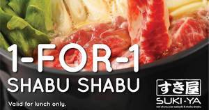 Featured image for Suki-Ya: 1-for-1 Shabu Shabu Hotpot lunch with Citibank cards (Mon – Thur)! From 2 Jul – 30 Aug 2018