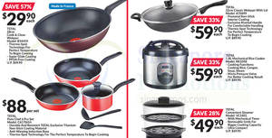 Tefal: Up to 57% off offers at Fairprice from 22 Mar – 4 Apr 2018