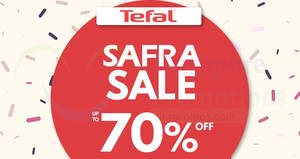 Tefal up to 70% OFF sale at SAFRA Punggol from 23 – 25 Mar 2018