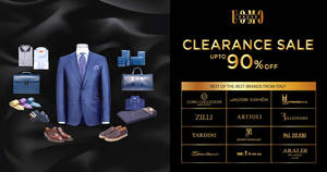 Uomo Group: Up to 90% OFF clearance sale on best of the best luxury brands from Italy! From 23 – 25 Mar 2018