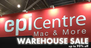 EpiCentre up to 90% OFF warehouse sale! From 20 – 21 Apr 2018