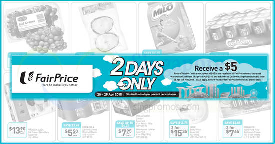 Fairprice 2days offers feat 28 Apr 2018