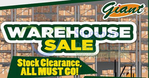 Giant Tampines: Crazy warehouse clearance sale! From 27 Apr – 1 May 2018