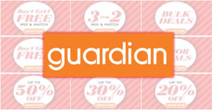 Guardian up to 60% off Super Sale returns for two days only from 27 – 28 Apr 2018