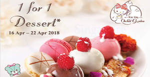 Hello Kitty Orchid Garden Cafe: 1-for-1 desserts this week from 16 – 22 Apr 2018