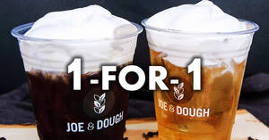 Joe & Dough: 1-for-1 Cheese Cold Brew at ALL 11 outlets from 23 – 30 Apr 2018