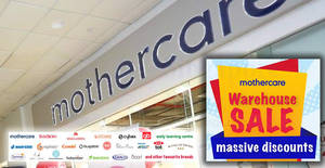 Mothercare up to 90% OFF massive warehouse sale from 20 – 22 Apr 2018
