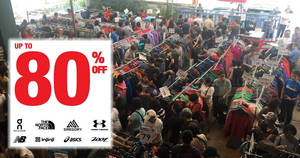 Outdoor Venture: Up to 80% off The North Face, Brooks, New Balance & more warehouse sale! From 27 – 29 Apr 2018
