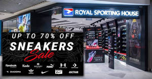 da4f622d2f Royal Sporting House  Up to 70% off Sneakers Sale! From 13 – 18 Apr 2018