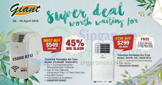 Trentios Air Conditioners feat 6 Apr 2018