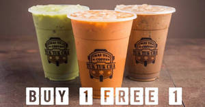 Tuk Tuk Cha: 1-for-1 ALL beverages deal returns at ALL outlets on Tuesday, 24 Apr 2018
