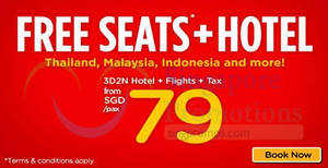 Air Asia Go: Book a hotel and get free flights – 3D2N packages from $79/pax! Book by 27 May 2018