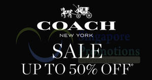 Featured image for Coach up to 50% OFF sale at Takashimaya from 30 Oct – 4 Nov 2019