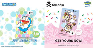 Featured image for EZ-Link: NEW Doraemon & Tokidoki cards at selected Cheers outlets from 3 May 2018