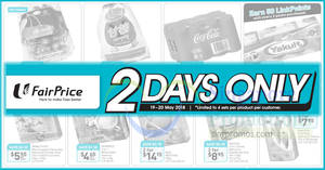 Fairprice: 2-days offers – Coca-Cola, Yakult, Milo & more! Ends 20 May 2018