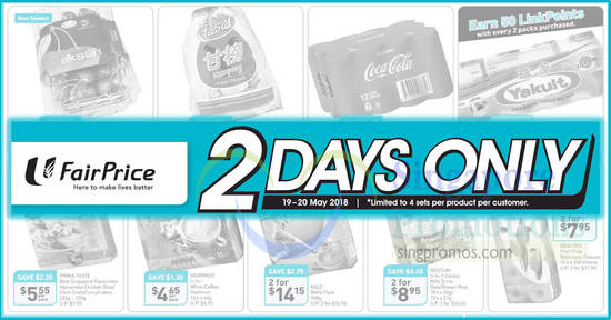 Fairprice 2days offers feat 19 May 2018