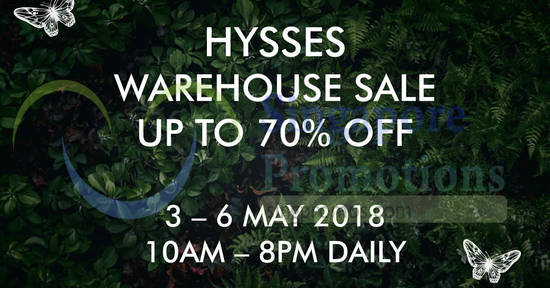 HYSSES Warehouse Sale 2 May 2018