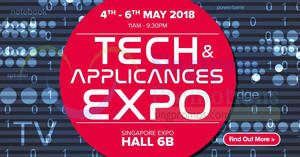 Featured image for Harvey Norman Tech & Appliances EXPO from 4 – 6 May 2018