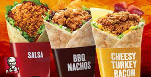 KFC releases two flavours of Pockett Bandito – Cheesy Turkey Bacon & BBQ Nachos! From 23 May 2018