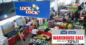 Lock & Lock warehouse sale returns with discounts of up to 70% off! From 29 May – 3 Jun 2018