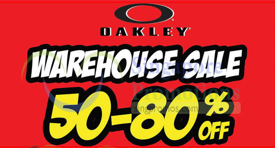 Oakley Warehouse Sale feat 22 May 2018