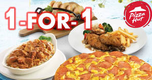 Pizza Hut: 1-for-1 pizzas, entrees & more on weekdays at ALL restaurants! Ends 22 Jun 2018