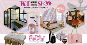 TOP Home Show ID & Furniture Fair at Singapore Expo from 26 May – 3 Jun 2018