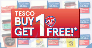 Fairprice: Buy-1-get-1-free selected Tesco products now till 31 May 2018