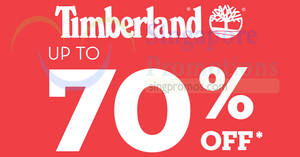 Timberland up to 70% OFF bazaar from 24 May – 5 Jun 2018