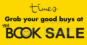 Times Bookstores: Up to 60% OFF book sale from 26 May – 3 Jun 2018