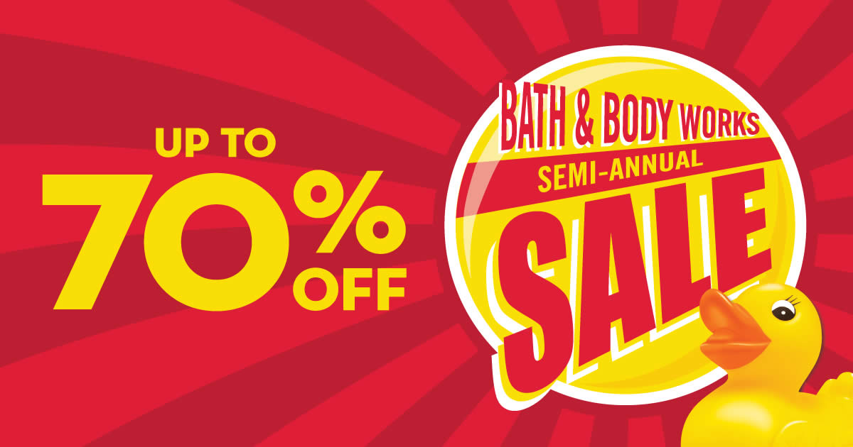 Bath Amp Body Works Semi Annual Sale Up To 70 Off From 7