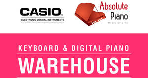 Casio up to 80% OFF keyboards and digital pianos warehouse clearance sale from 21 – 24 Jun 2018