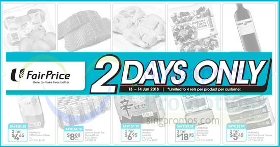 Fairprice 2days offers feat 13 Jun 2018