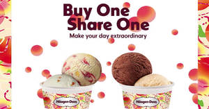 Haagen-Dazs outlets to offer 1-FOR-1 double scoops at ALL outlets from 18 – 22 Jun 2018
