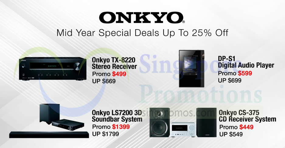 Onkyo up to 25% OFF crazy mid-year sale till 30 Jun 2018