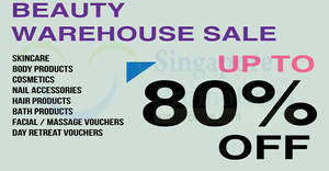 Beauty Warehouse Sale (Elemis, Skinceuticals & more) from 18 – 19 Jul 2018