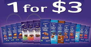 Cadbury Dairy Milk chocolate bars are going at $3 (U.P. $5.20) each at Fairprice, Giant & more till 25 Jul 2018