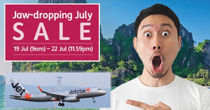 Jetstar sale – fares start fr $50 all-in to over 20 destinations! Book by 22 Jul 2018